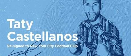 Anúncio oficial da renovação de Taty com o New York City (Foto: Divulgação/NYCFC)