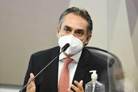 O gerente-geral da Pfizer para a América Latina, Carlos Murillo, em depoimento à CPI da Covid