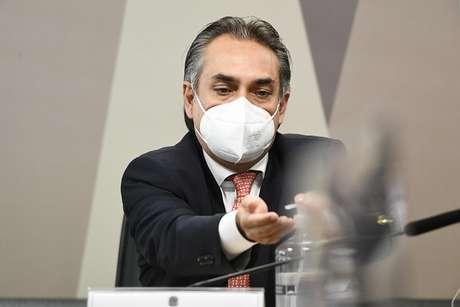 O gerente-geral da Pfizer na América Latina, Carlos Murillo, em pronunciamento à CPI