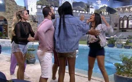 Discussão aconteceu após Pocah dizer que ele não tinha chances de ganhar o programa.