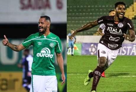 Anselmo Ramon e Bruno Mezenga (Fotos: Márcio Cunha/Chapecoense; Tiago Pavini/Divulgação/Ferroviária S/A)