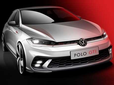 Volkswagen divulgou teaser do novo Polo GTI.