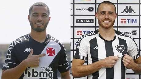 Morato, do Vasco, e Pedro Castro, do Botafogo, foram uns dos principais reforços dos clubes para 2021 (Montagem LANCE!)