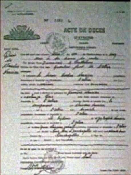 Atestado de óbito de Clairvius Narcisse em 1962 foi assinado por dois médicos