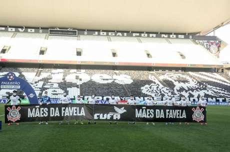 Corinthians e CUFA se uniram para arrecadar alimentos (Foto: Rodrigo Coca/Ag. Corinthians)