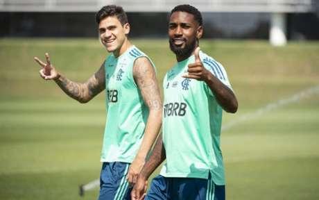 Pedro e Gerson estão na Seleção olímpica (Foto: Alexandre Vidal / CRF)