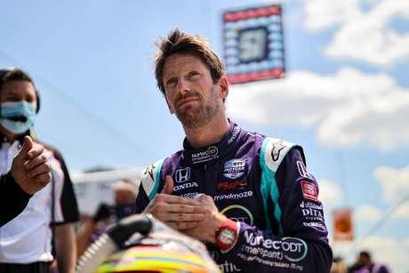 Romain Grosjean vai se adaptando de forma incrível na Indy