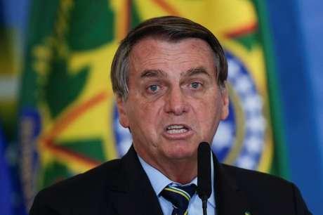 Presidente Jair Bolsonaro durante cerimônia no Palácio do Planalto 12/05/2021 REUTERS/Ueslei Marcelino