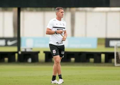 Vagner Mancini comandou o treino do Corinthians nesta sexta-feira (Foto: Rodrigo Coca/Ag. Corinthians)