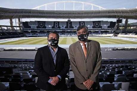 Jorge Braga, CEO, e Durcesio Mello, presidente do Botafogo (Foto: Vitor Silva/Botafogo)