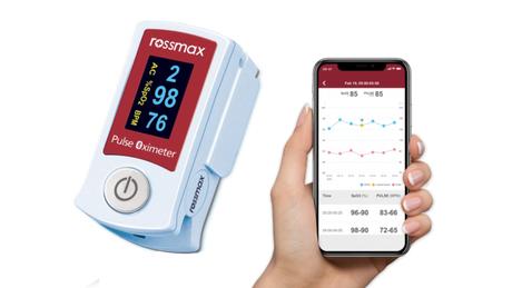 Oxímetro com Bluetooth SB210 da Rossmax