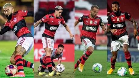 Gabigol, Pedro, Everton Ribeiro e Gerson defenderão o Brasil em junho (Fotos: Alexandre vital/ Flamengo)