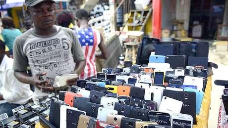 Houve uma explosão no mercado de telefones celulares da Nigéria nos anos 2000
