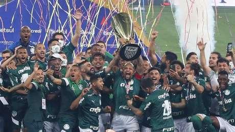 Palmeiras campeão do Paulistão 2020 (Foto: Fábio Menotti/Palmeiras)