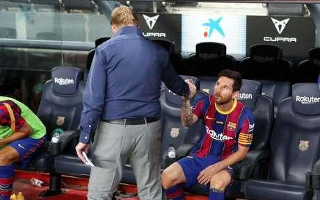 Messi e Koeman ainda não tem futuro definido no Barcelona (Foto: Miguel Ruiz / Barcelona)