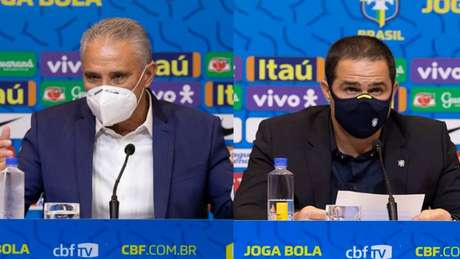 Tite convocou para as Eliminatórias, enquanto Jardine chamou para Data Fifa (Montagem LANCE! Foto: Lucas Figueiredo/CBF