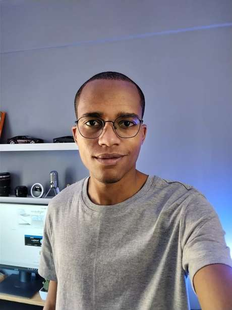 Foto tirada com a câmera frontal do Nokia 5.4