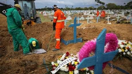 Em 2021, Manaus voltou a ter dezenas de enterros por causa da covid