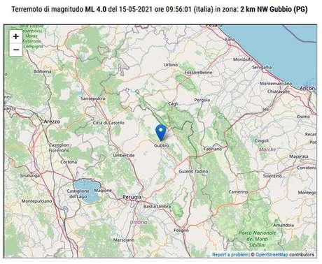 Terremoto teve magnitude de 4.0 graus na escala Richter