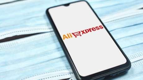 Compras online no aplicativo do AliExpress