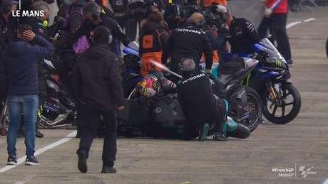 Franco Morbidelli caiu em cima da M1 da SRT