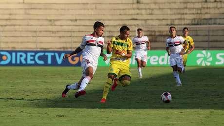 São Paulo e MIrassol empataram por 1 a 1 na primeira fase do estadual (Foto: Marcos Freitas/Ag Mirassol FC