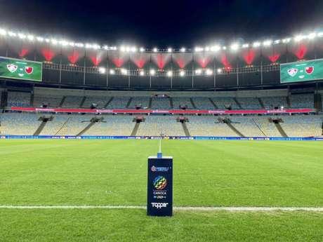 Fluminense e Flamengo fazem o primeiro jogo da final do Campeonato Carioca, no Maracanã (Foto: Reprodução/Twitter Flamengo)