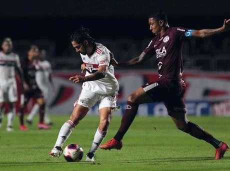 Benítez foi o principal jogador do São Paulo na vitória contra a Ferroviária (Foto: Divulgação)