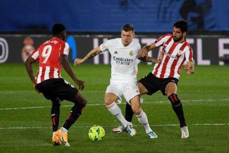 Real Madrid venceu o Athletic Bilbao por 3 a 1 no primeiro turno (Foto: AFP)