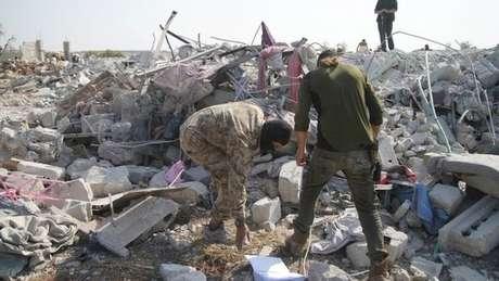 Local do ataque americano em que morreu Abu Bakr al-Baghdadi