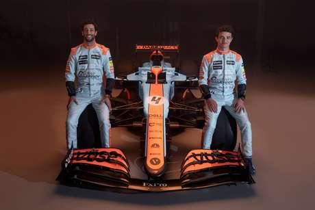 A McLaren apresentou uma pintura retrô inspirada na patrocinadora Gulf para o GP de Mônaco