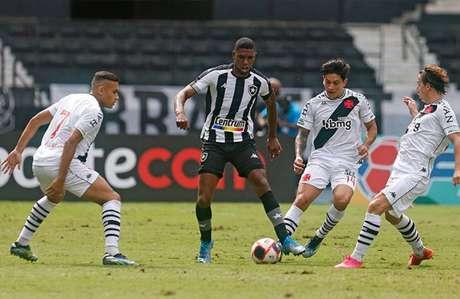 Vasco venceu o Botafogo em jogo transmitido pela RecordTV (Foto: Vitor Silva/Botafogo)