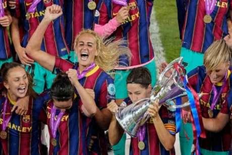 Barcelona entra para lista de campeãs (Foto: BJORN LARSSON ROSVALL / TT NEWS AGENCY / AFP)
