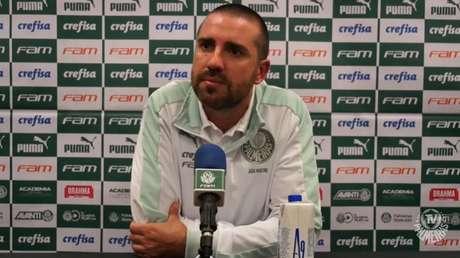 João Martins falou em coletiva após vitória sobre o Corinthians (Foto: Reprodução)