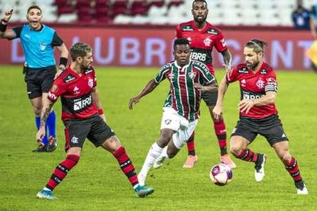 Clássico decisivo entre Fluminense e Flamengo terminou em 1 a 1; jogo de volta será neste sábado (Foto: Alexandre Vidal/Flamengo)