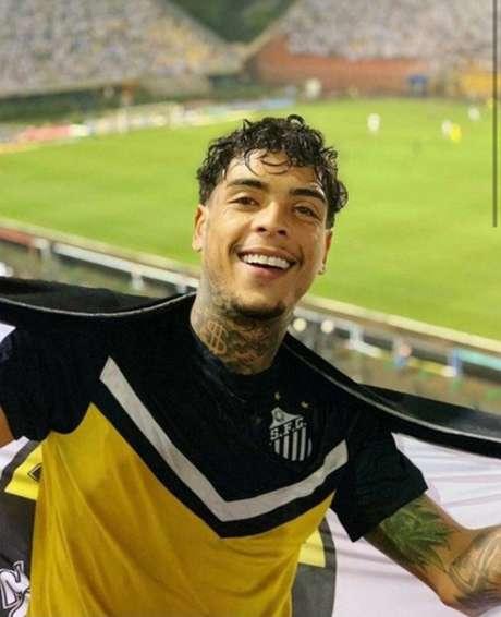 Kevin era apaixonado pelo Santos e tinha relação próxima com atletas (Reprodução/Instagram)