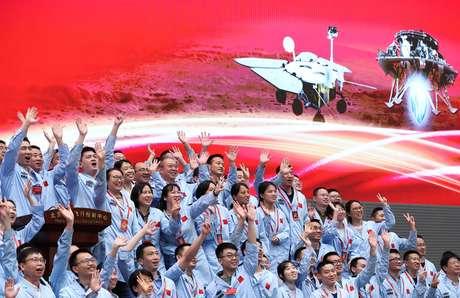 Centro de Controle Aeroespacial de Pequim, responsável pela missão que enviou uma nave espacial chinesa aMarte