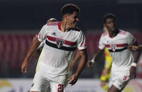 Gabriel Sara marcou contra o Mirassol (Foto: Rubens Chiri / saopaulofc.net)
