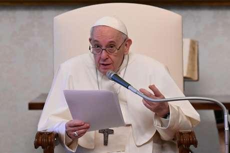 Papa Francisco, no Vaticano 28/04/2021 Mídia do Vaticano/Divullgação via REUTERS