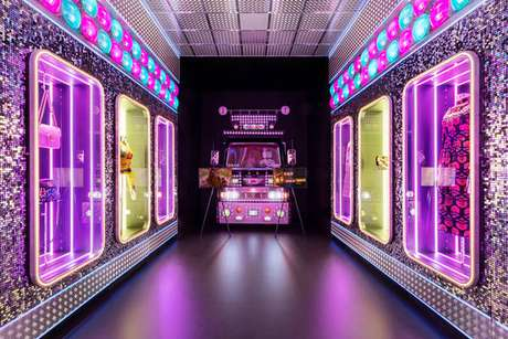 Um dos espaços da exposição da Gucci em Florença