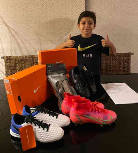 Luan Caruso, de 11 anos, assinou acordo com a Nike por cinco temporadas (Foto: Divulgação)