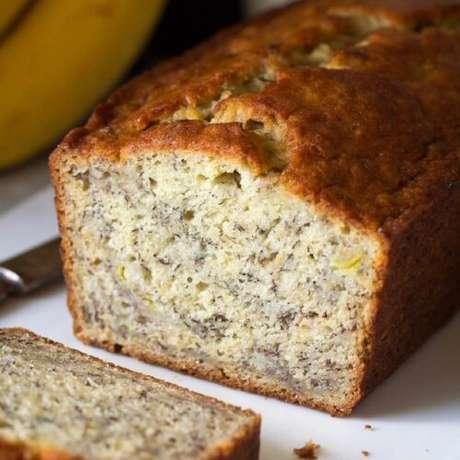Aprenda receita bolo de banana simples e fit.