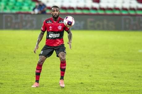 O meia Gerson em ação pelo Flamengo, no último sábado, na final do Carioca (Foto: Alexandre Vidal/Flamengo)
