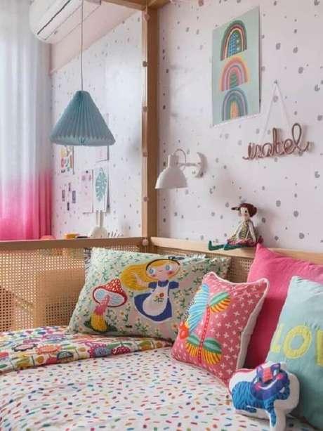 34. As almofadas para quarto infantil trazem cor e alegria para o dormitório. Fonte: MOOUI