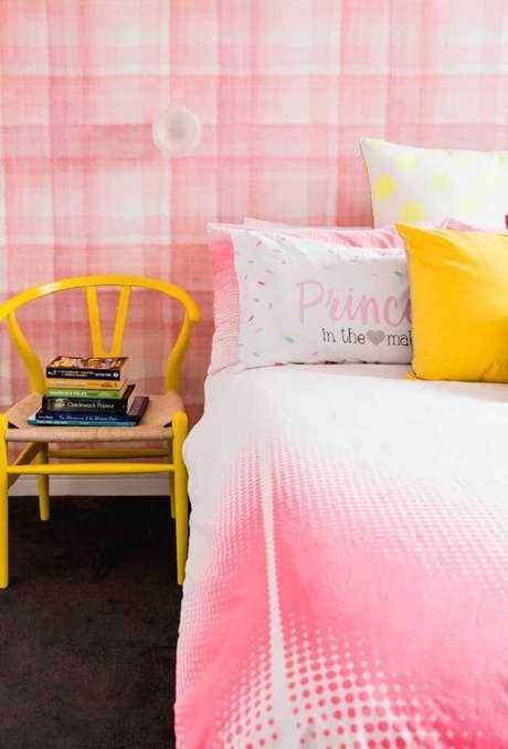49. Procure conectar as almofadas decorativas para quarto infantil com outros elementos do dormitório. Fonte: Revista Viva Decora 2