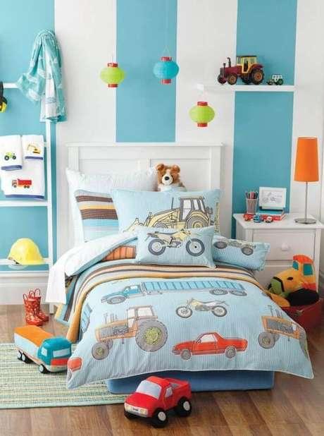47. Kit almofadas para quarto infantil com temática de veículos. Fonte: Pinterest
