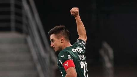 Willian comemora gol do Verdão pela Libertadores (Foto: Cesar Greco/Palmeiras)