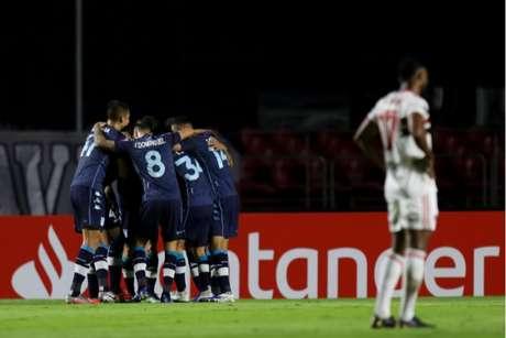 Racing venceu o São Paulo por 1 a 0, no Morumbi, e acabou com a invencibilidade do Tricolor (Foto: STAFF Conmebol)