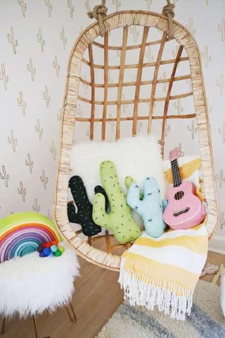 2. As almofadas infantil decorativas em formato de cacto fazem muito sucesso com o público. Fonte: Decostore