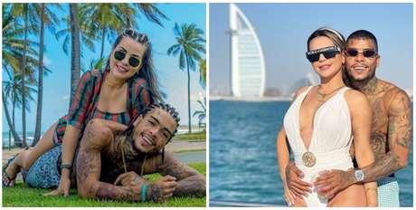 MC Kevin e Deolane no litoral da Bahia e em Dubai: felicidade compartilhada com seguidores nas redes sociais